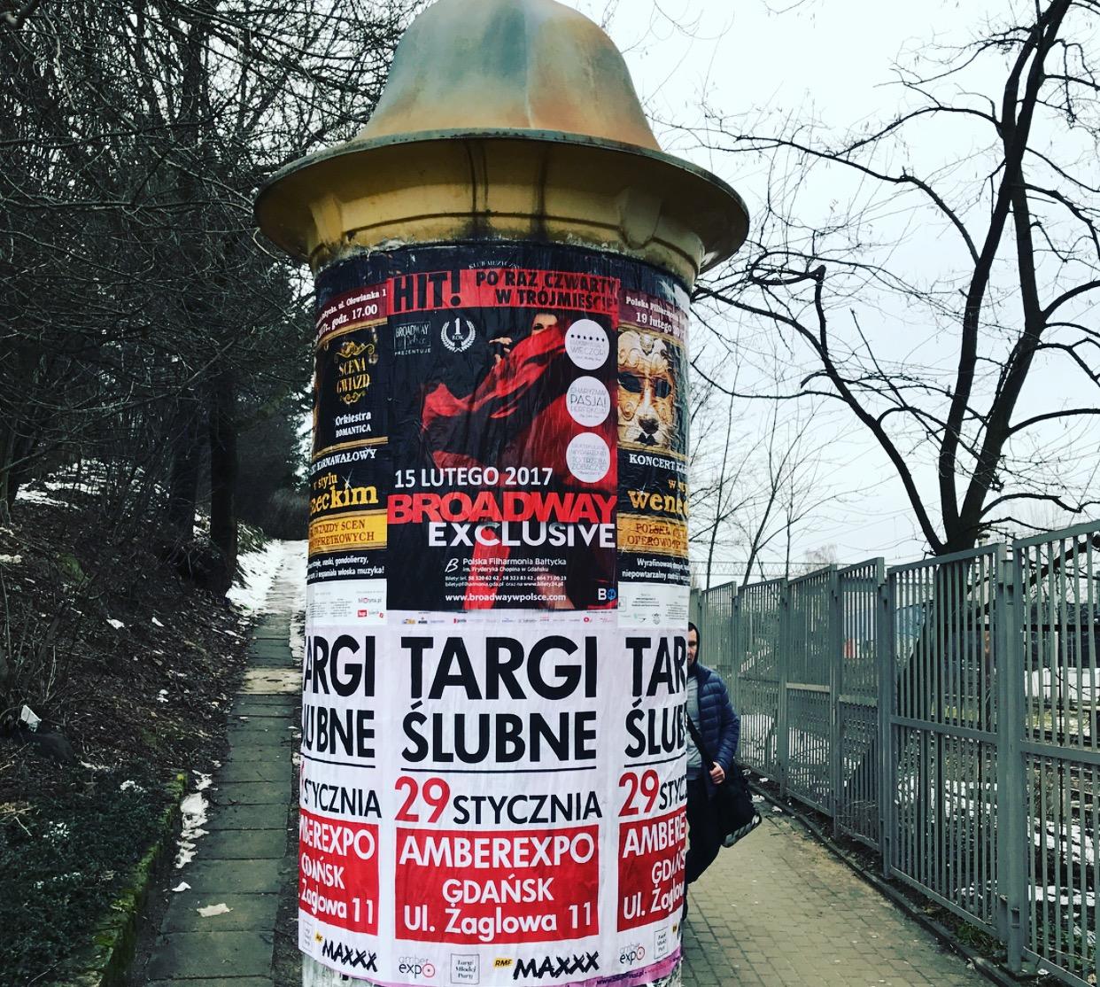 Plakatowanie Słupy Reklamowe Ogłoszeniowe Dystrybucja